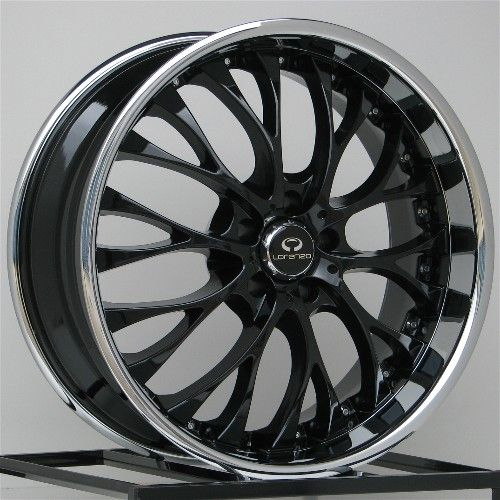 22 Inch Wheels Rims Black Dodge Charger Chrysler 300 300C AWD 5x115