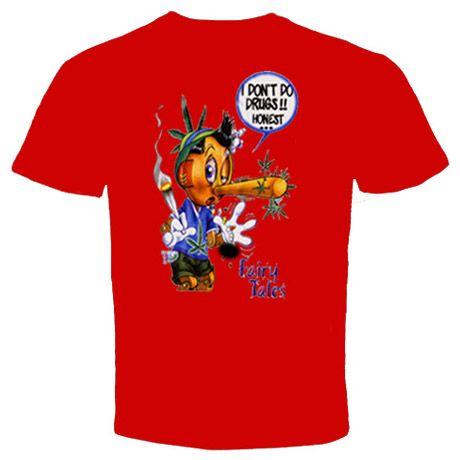 Marijuana drug Funny T Shirt Pinokio High coffee shop