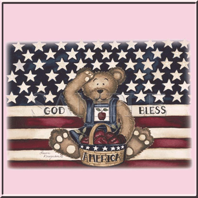 Salute God Bless America USA US Flag Teddy Bear S 4X,5X
