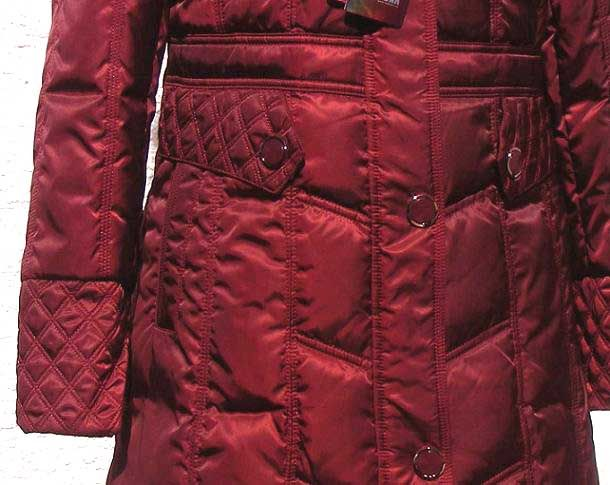 NWT Womens Winter Long Down Coat(SN1195),Wine Red