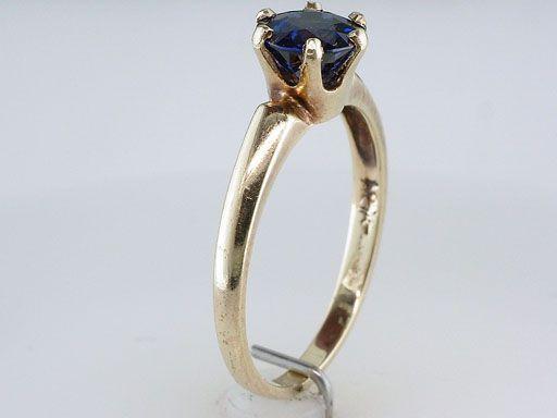 Antique Victorian 1.15ct Kashmir Blue Sapphire Gold Engagement Ring