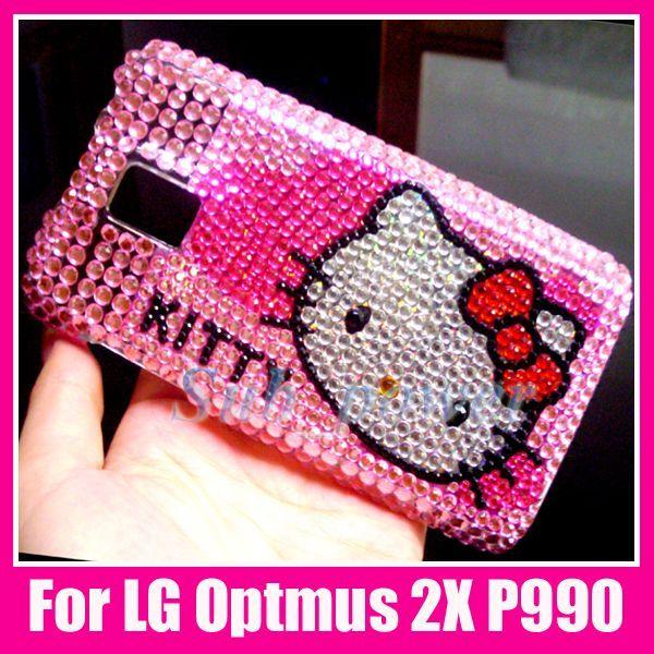 Hello Kitty Bling Back Case Cover LG Optimus 2X P990 DC