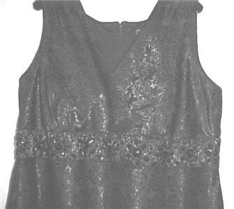 Black Jacquard Print Cocktail Dress w/Ruffled Layers 20W NEW