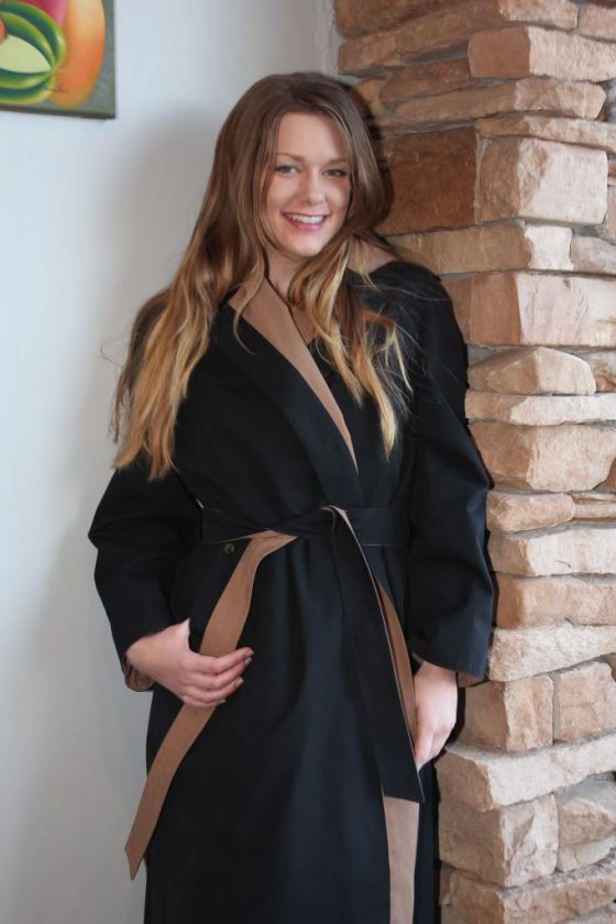ETIENNE AIGNER Women Reversible Camel Trench Coat M