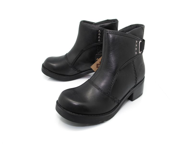 Harley Davidson Cheri Black Womens Motorcycle Boots Size 9.5