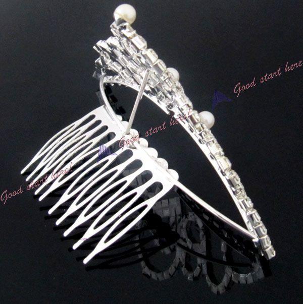 Bridal Jewelry Rhinestone Hair Accessories Crown Headband Tiaras