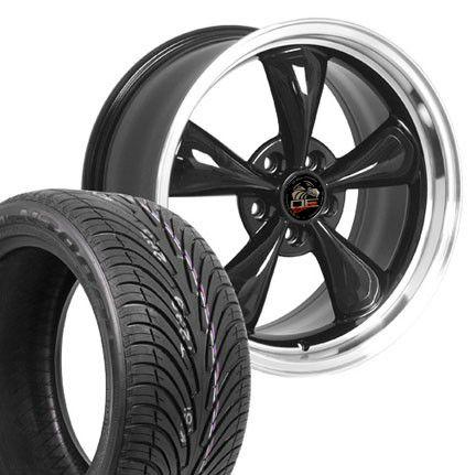 18 9/10 Black Bullitt Wheels Nexen Tires Rims Fit Mustang® 94 04